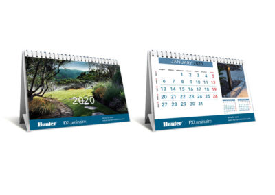 Hunter - Aspersores - Diseño de calendario